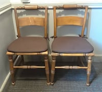"Pair of Antique ""Hitchcock"" Style Chairs by HIGH POINT BENDING & CHAIR CO Mount Rainier, 20712"