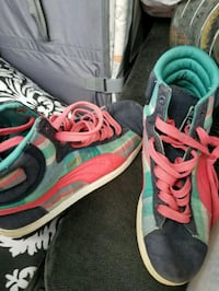 pair of pink-and-green Nike running shoes Eau Claire, 54701