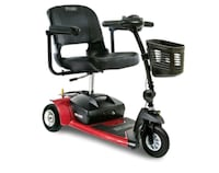 red and black mobility scooter Aurora, 80014