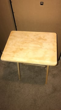 brown wooden folding table