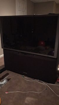 black rear-projection TV Stamford, 06902