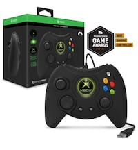 Hyperkin Duke Wired Controller for Xbox One/ Windows 10 PC (Black) - Officially Licensed by Xbox Los Angeles, 90291