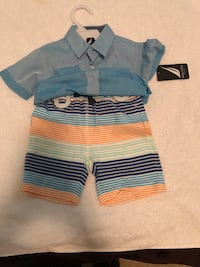 blue and yellow stripe polo shirt Lynnwood, 98087