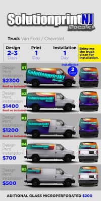 commercial wrap grsphics for van Clifton, 07011