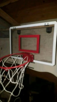 white and red basketball hoop Edmonton