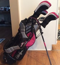 Girls youth golf clubs and bag
