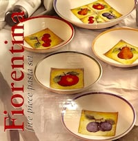 BRAND NEW Italian Fiorentina Matching Serving Bowl and Dinner Plate Set Falls Church, 22046