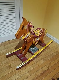 brown and yellow wooden rocking horse Hyattsville, 20781