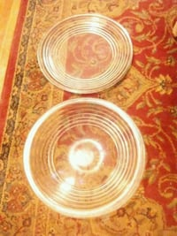 Decorative center piece bowl with matching plate