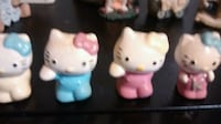 color cool kitty white and pink ceramic figurines New York, 10002