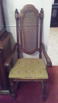 brown wooden frame padded armchair Wilmington, 19809