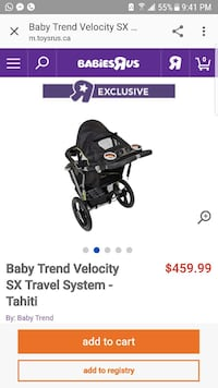 Baby trend velocity sx travel system screenshot Laval