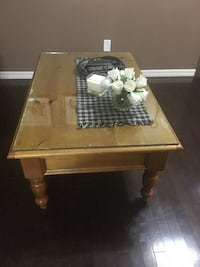 Pine coffee table and 2 end tables BEAUMONT