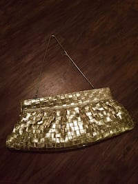 Steve Madden Gold Clutch