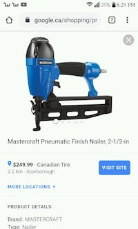 Mastercraft Pneumatic Finish Nailer. MINT