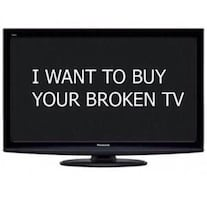 Free pick up and cash for Broken LCD or LED TVs