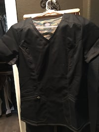 Dickies scrub set (black and gold stitching) size small  with tags never worn