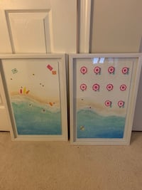 Pair of framed beach art prints Herndon, 20194