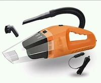 orange and black vacuum cleaner