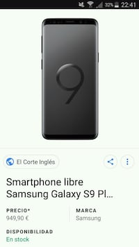 Samsung Galaxy S9 Plus  Sevilla, 41005