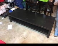 black wooden TV stand with flat screen television South San Francisco, 94080