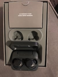 Black and gray wireless Jabra earphones in box Surrey, V3T 3G9