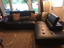 Sectional Couch with fold up headrest