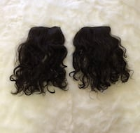 Two Dark Brown Clip-in Hair Extensions