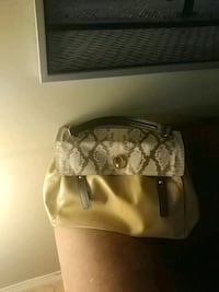 Beige snake purse yves saint laurent purse Vancouver, V6P 3S4