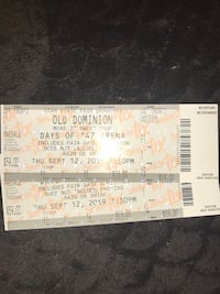 2 Front Row Tickets to Old Dominion Monroe, 84754