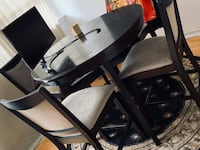 Black high wooden dining table set with chairs Toronto, M4P 1Y5