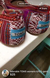 Adorable TOMS womens 6/6.5-gently used London, N5W 6E3