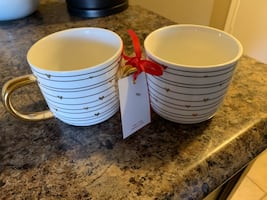 2 Never used mugs from home sense