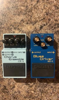 BOSS CE-5 and BD-2 Guitar Pedals