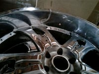 chrome 5-spoke car wheel Houston, 77076