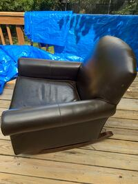 Pottery Barn kids leather chair