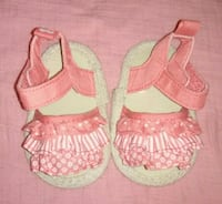 Infant pair of white-and-pink sandals Cottonwood, 96022