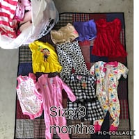 Bag of baby girl clothes (Size 9 months) Acton, 93510