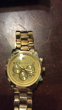 round gold Michael Kors chronograph watch with link bracelet Los Ángeles, 91367