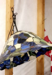 Stained Glass Vintage Light Fixture 663 mi