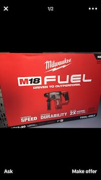 "Milwaukee new brand M18 1"" Sds Plus Cordless Rotary Hammer Drill Bare Tool only New brand Herramienta nueva Los Angeles, 91406"