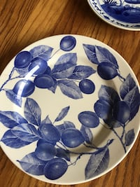 blue and white floral ceramic plate Pine Grove, 17963