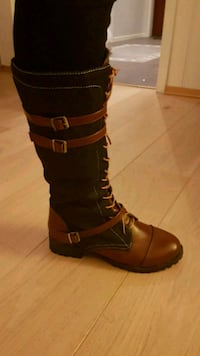 unpaired brun skinn side-zip boot Fyllingsdalen, 5152