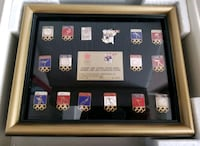 ($50) VERY RARE LIMITED EDITION 1988 WINTER OLYMPIC PINS SET Stockton