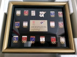 ($45) VERY RARE LIMITED EDITION 1988 WINTER OLYMPIC PINS SET