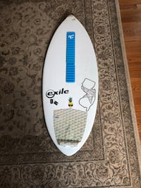 Exile recruit skimboard-Gorilla traction pad-Creature Arch Bar-Nose damaged and repaired  Manasquan, 08736