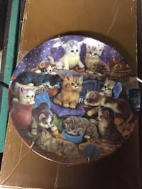 kitten litter print ceramic decorative plate Seymour, 06483