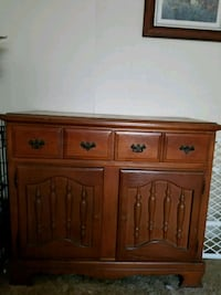 brown wooden cabinet with drawer Humboldt, 50548