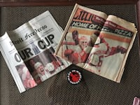Memorabilia - Redwing Champions paper, June 9th, 1997 & Made in Detroit puck included.  Detroit, 48226