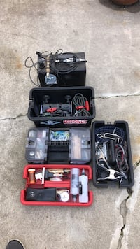 Complete Air Brush kit with tons of paint, everything thing needed for the professional or amateur Huntington Beach, 92649